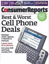 Consumer Reports Magazine January 2009 Cell Phones Fridges Sedans Appliances