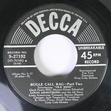 50'S & 60'S 45 Louis Armstrong - Bugle Call Rag-Part Two / Panama-Part Two On De