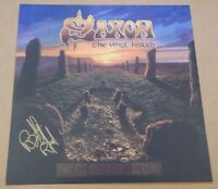 SAXON The Vinyl Hoard 2016 UK promo only SIGNED / AUTOGRAPHED print + CoA