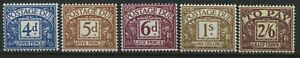 GB KGVI 1938 4d Postage Dues 4d, 5d, 6d, 1/, and 2/6d mint o.g. hinged (40)