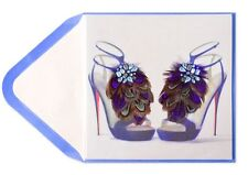 Papyrus Feather Jeweled High Heel Shoes Happy Birthday Greeting Cards