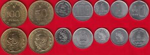 Argentina set of 7 coins: 1 austral - 100 pesos 1957-1991 XF-UNC