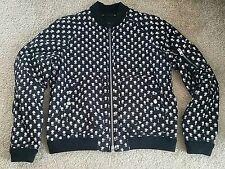 Coach Mens Black Badlands Print Bomber Jacket Large