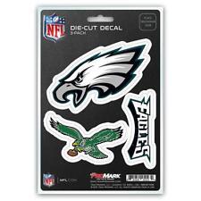 Philadelphia Eagles Set of 3 Die Cut Decal Stickers Retro Logo Free Shipping
