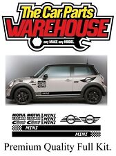 Mini Full Racing Decals John Cooper Works Rally Track Street ( BMW MINI )