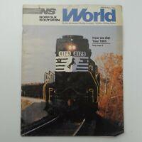 Norfolk Southern World Magazine Railway Company 1984