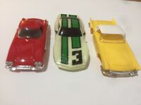 TYCO HO Slot Car Body Lot (Corvette (RED)Thunderbird (YELLOW)Corvette (NEON) NOS