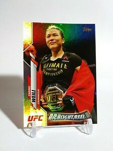2020 Topps UFC Weili Zhang RC Refractor Rainbow Foil Zhang Weili Rookie NEW.