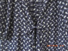 Rebecca Taylor 100% Silk French Navy Print Easy Smock Tunic Knee Dress XL 16