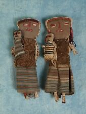 2 VINTAGE Chancay DOLLS Primitive Folk ART Native/South American Indian