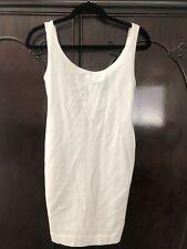 DKNY Vintage 90s White Scoopback Tank Dress  M