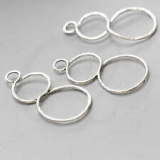 4 Pieces Oxidized Silver Base Metal Earring Findings-47x28mm (25663Y-H-26A)