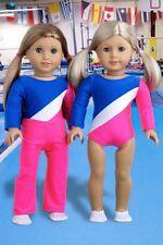 "Olympic Gymnast, Clothes for 18"" Doll, Gymnastics Leotard Sports Warm Up Pants"