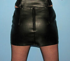 New black fake leather mini skirt all sizes