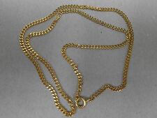 1 collier en métal doré (cuivré brillant) 50cm / maille 3x1mm