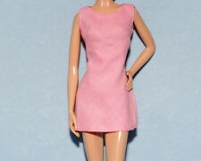 CUTE! Heavy Cotton Bubble Gum Pink Genuine BARBIE Sleeveless Casual Dress