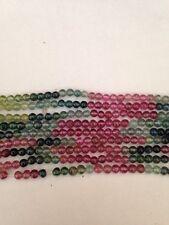 """15"""" 3mm Natural Grade A Tourmaline Round Beads"""