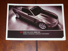 2008 SALEEN OWNERS MANUAL H302 SC HANDBOOK FORD MUSTANG