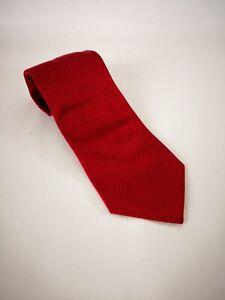 "Banana Republic 100% Silk Mens Tie Red 3.75"" Wide 58"" Long RN 54023"
