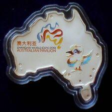 2010 Australia $1 Pavilion Shanghai World Expo 2010 1 oz Shaped Silver Coin -UNC