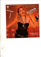 "MADONNA Angel JAPAN 7"" w/PS 80s POP"