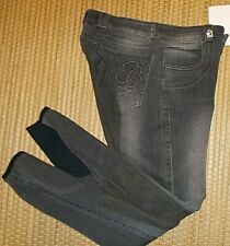 %%% Damen Reithose CAVALLO CHAYA Vollbesatz DENIM Jeans smokedgrey schiefer 36