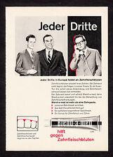 3w2314/vieja publicitarias de 1960-Blend-A-MED ayuda contra hemorragia gingival.