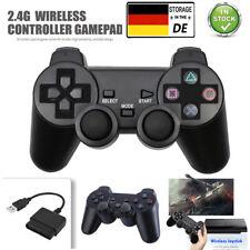 Für PlayStation PS2 2.4G Wireless Vibration DL Shock Gamepad Controller Joystick