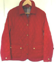 Barbour Ladies Red Quilted Fitted Jacket size UK 12