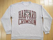 COOL!! 80s vtg HARVARD CRIMSON university SWEAT SHIRT grey GYM medium