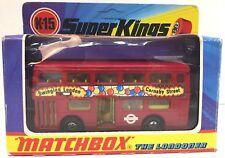 1973 MATCHBOX SUPERKINGS K-15 MATCHBOX BUS THE LONDONER NEW IN PACKAGE