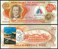 20p, QUEZON CITY 75th DIAMOND JUBILEE 1939-2014 w/ Stamp Philippine Banknote #4