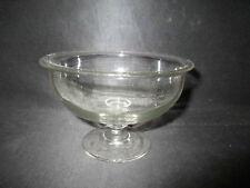 ancien confiturier ou présentoire de table en verre soufflé XIX ème