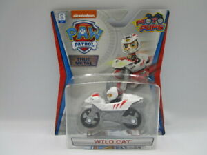 Paw Patrol Moto Pups Wild Cat True Metal Diecast Motorcycle Nickelodeon New