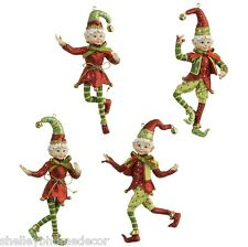 Resin Elf Christmas Ornaments set of 4 rzchsw 3407051 NEW RAZ