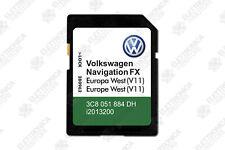 VOLKSWAGEN Navigation FX West EUROPE V11 2019 SD Card RNS 310 - Est Europa