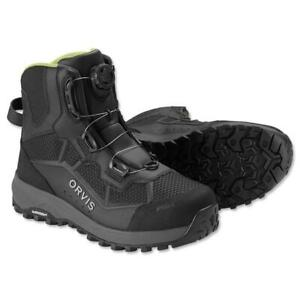 NEW SIZE 9 ORVIS PRO BOA WADING BOOTS WITH INDUSTRY FIRST MICHELIN RUBBER SOLES