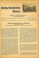 Germany Postal History Pages Publication Dortmund #2 To #19 1954-61 Plus Index