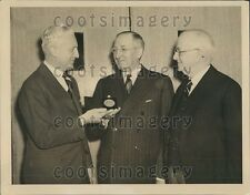 1941 Railroad Executive Ralph Budd With W Henry Harrison H Riggs Press Photo