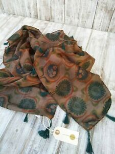 Nil. Retro Print Square Scarf With Tasselled / Was Selling At Anthropologie