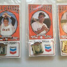 Baseball Hall of fame 3 Chevron pins