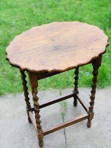 OVAL TOP  HIGH BARLEY TWIST LEG SIDE TABLE
