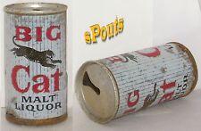 PABST BIG CAT MALT LIQUOR ZIP TAB CHEETAH JAGUAR BEER CAN 1963 NEWARK,NEW JERSEY