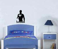Superman Superhéroe cuarto del Bebé Infantil Adhesivo para dormitorio pared
