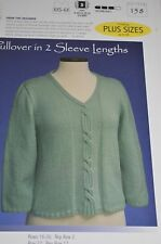 Vermont Fiber Designs 158 Cable Panel Pullover Knitting Pattern  size XXS-6X