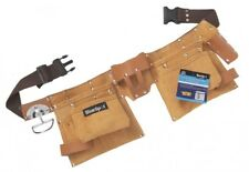 Heavy Duty 10 Pocket Professional Double Pouch Leather Tool Belt