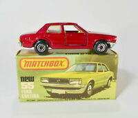 Vintage Matchbox Ford Cortina Lesney Superfast #55 of 75 Red with original box