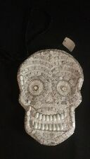Katherine's Collection Beaded Skeleton Skull Purse Halloween NEW