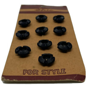 Vintage Le Chic For Style Small Blue Plastic Floral Buttons - 10 Buttons