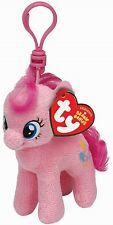 Ty beanie babies 41103 my little pony pinkie pie horse key clip